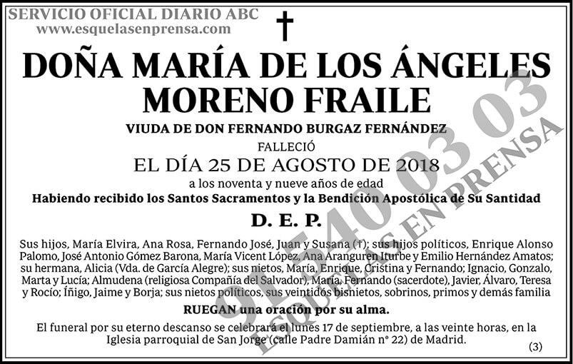 María de los Ángeles Moreno Fraile